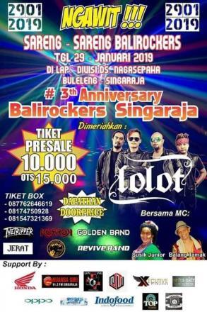 Konser Balirockers 3 Tahun Anniversary di Desa Nagasepaha