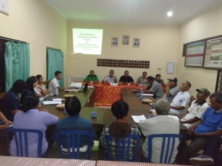 Rapat Kordinasi Persiapan Pelaksanaan Musdes dan Pelaksanaan Permohonan Rencana Dana BKK Propinsi ta