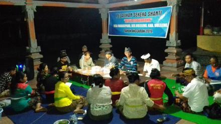 Pelatihan Sekeha Shanti Widya Adi Wikrama Desa Nagasepaha
