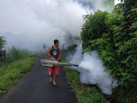 Relawan Poging Pemberantasan  Nyamuk Desa Nagasepaha