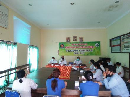 Musyawarah Masyarakat Desa (MMD) Puskesmas Buleleng III Tahun 2021
